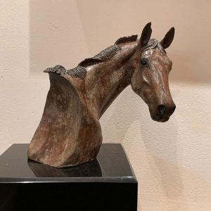 """Virginia Artist Robyn Ryan Bronze Sculpture """"Turn About"""" #3 in limited edition of 20"""