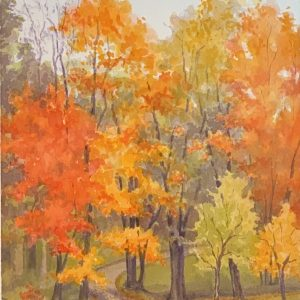 Robyn Ryan Watercolor Painting Autumn Drive