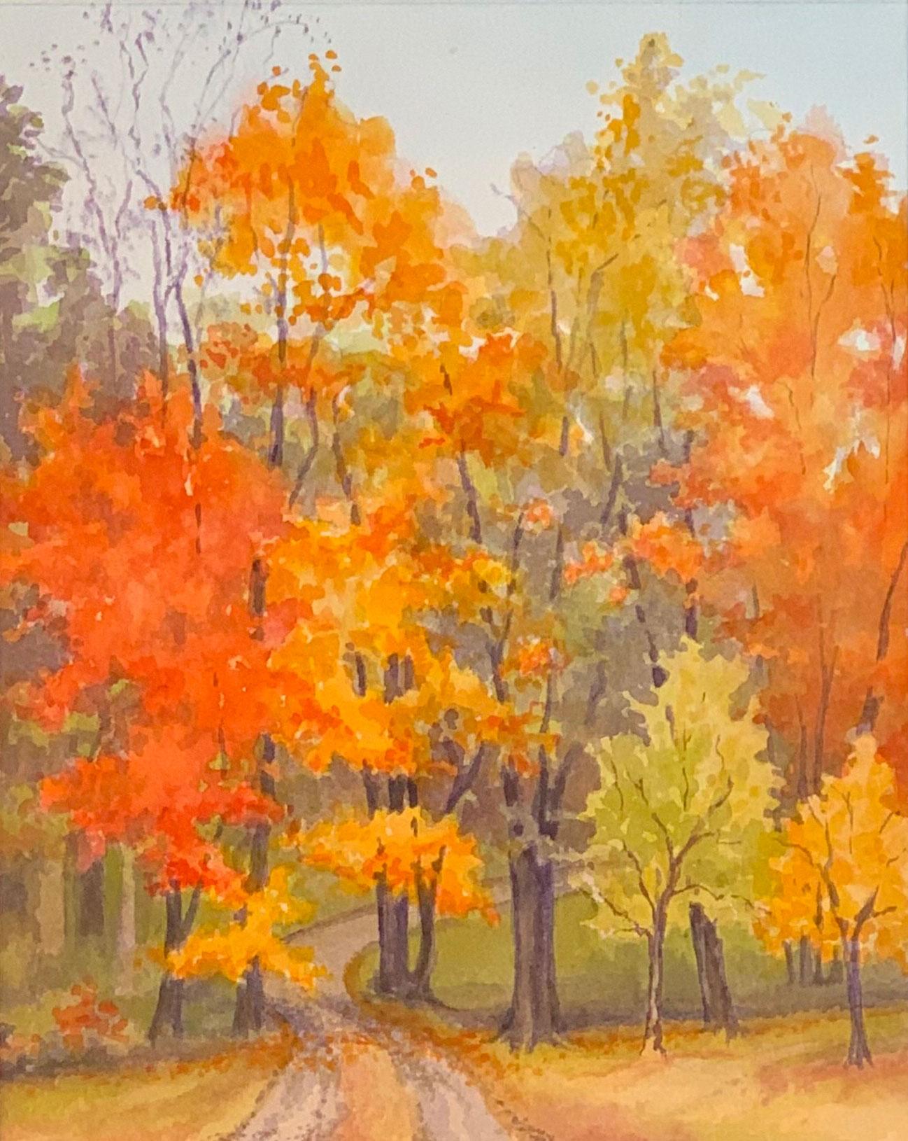 Fall Drive by Artist Robyn Ryan